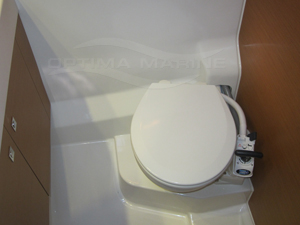 Marine Toilet with Manual Seawater Flush - Before