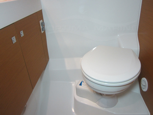 Marine Toilet with Electric Freshwater Flush - After